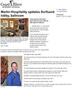 Martin North updates Surfsand lobby, ballroom