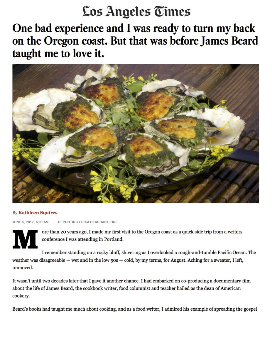 One bad experience and I was ready to turn my back on the Oregon coast. But that was before James Beard taught me to love it