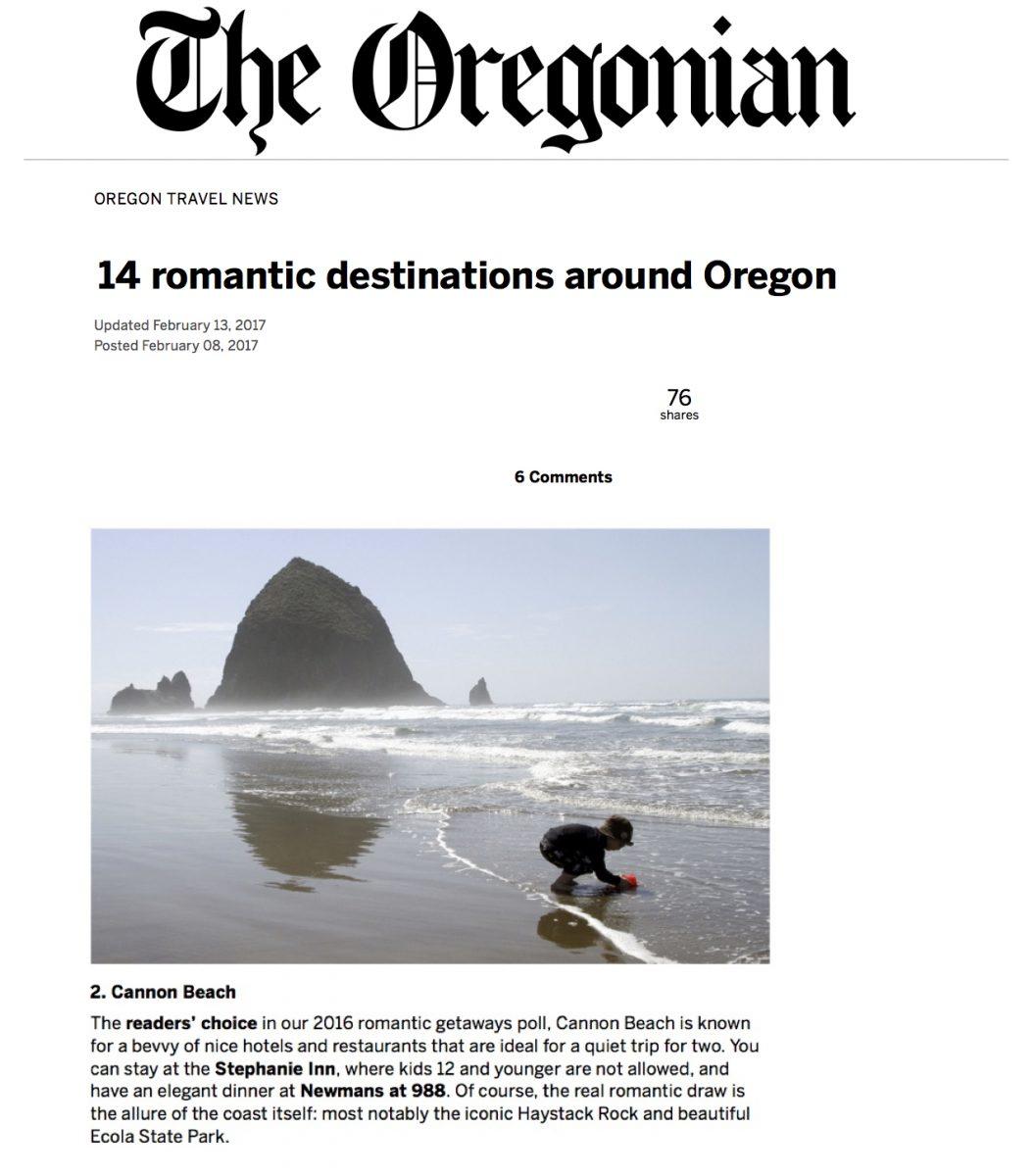14 romantic destinations around Oregon
