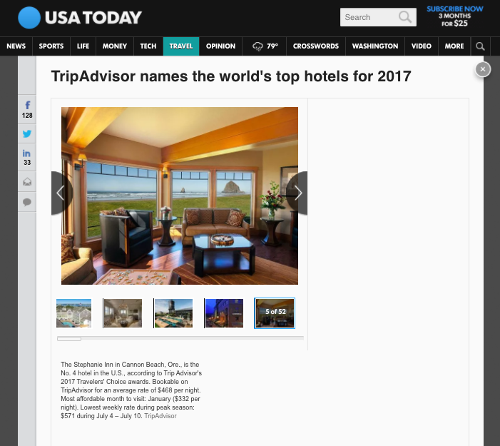 TripAdvisor names the world's top hotels for 2017