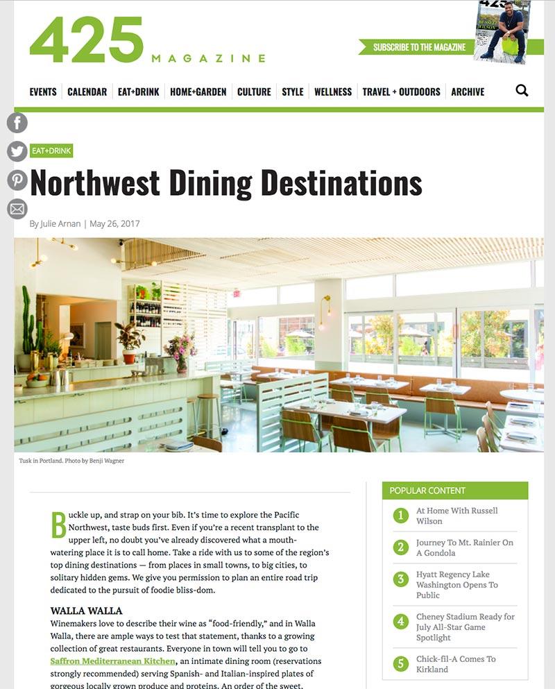 Northwest Dining Destinations