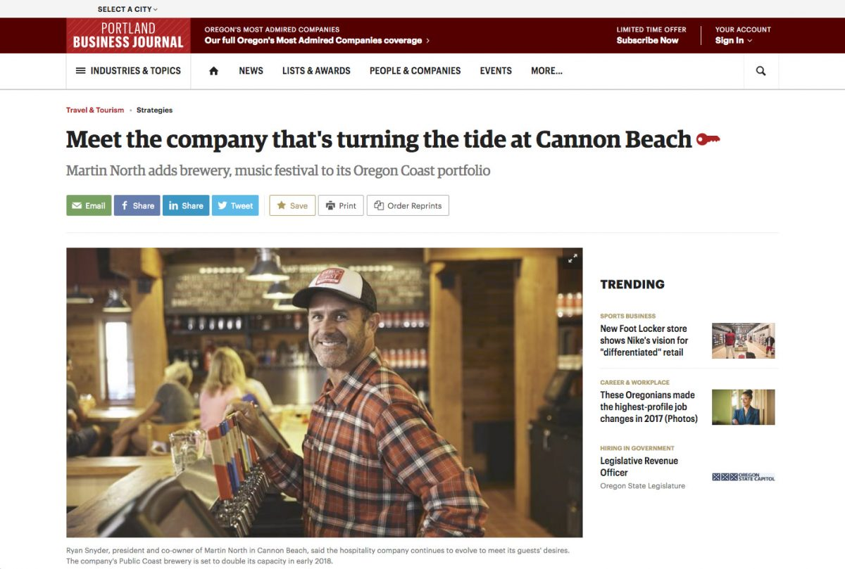 Meet the company that's turning the tide at Cannon Beach